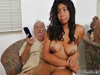 Young old man hd and real daddy fucks boss' patron's