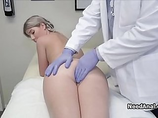 Yearly check up ends with wild ass drilling for this blonde