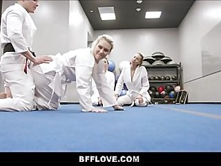 Young Teen Best Friends Get Fucked By Sensei During Karate Practice
