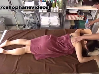 Breasty japanese legal age teenager getting massage