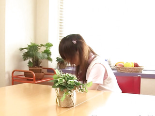 Legal Age Teenager nippon schoolgirl give footjob in socks
