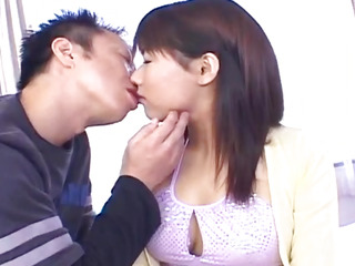 Japanese AV Model has nipples pinched and hairy crack screwed