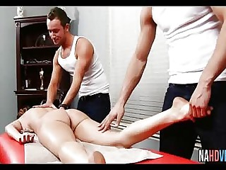 Busty Takes Two Young Cocks Raquel DeVine