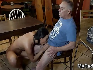 Real daddy and old man licks young pussy Can you trust