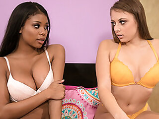 Booty College Girl Tricking Her Ebony Friend Into Lesbian Sex