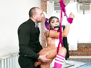 Sweet Adria Rae gets a BDSM fuck punishment