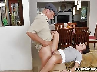 Old lady fucked by young and old cougar and young girl