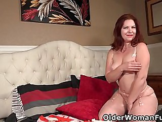 American milf Kimberlee gets turned on in hot lingerie and rubs her hairy love hole. Now available in Full HD 1080. Bonus video: USA milf Valentine.