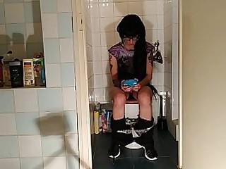 Slim teen girl pissing & shitting in front of hidden cam pt1 HD