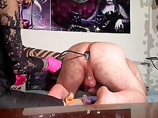 Gothic mistress ass play with dildos before bareback fucking pt1 HD