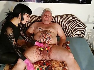 Edging and clothespins cbt for an old fat slave pt2 full HD