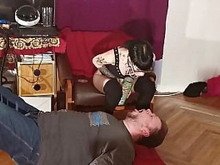 Young Mistress feeding slave with chewed food pt1 HD