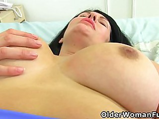 Curvy milf Sassy from the UK will make your cock hard with her beautiful boobs and fucktastic fanny (now available in Full HD 1080P). Bonus video: British mature Ginger Tiger.